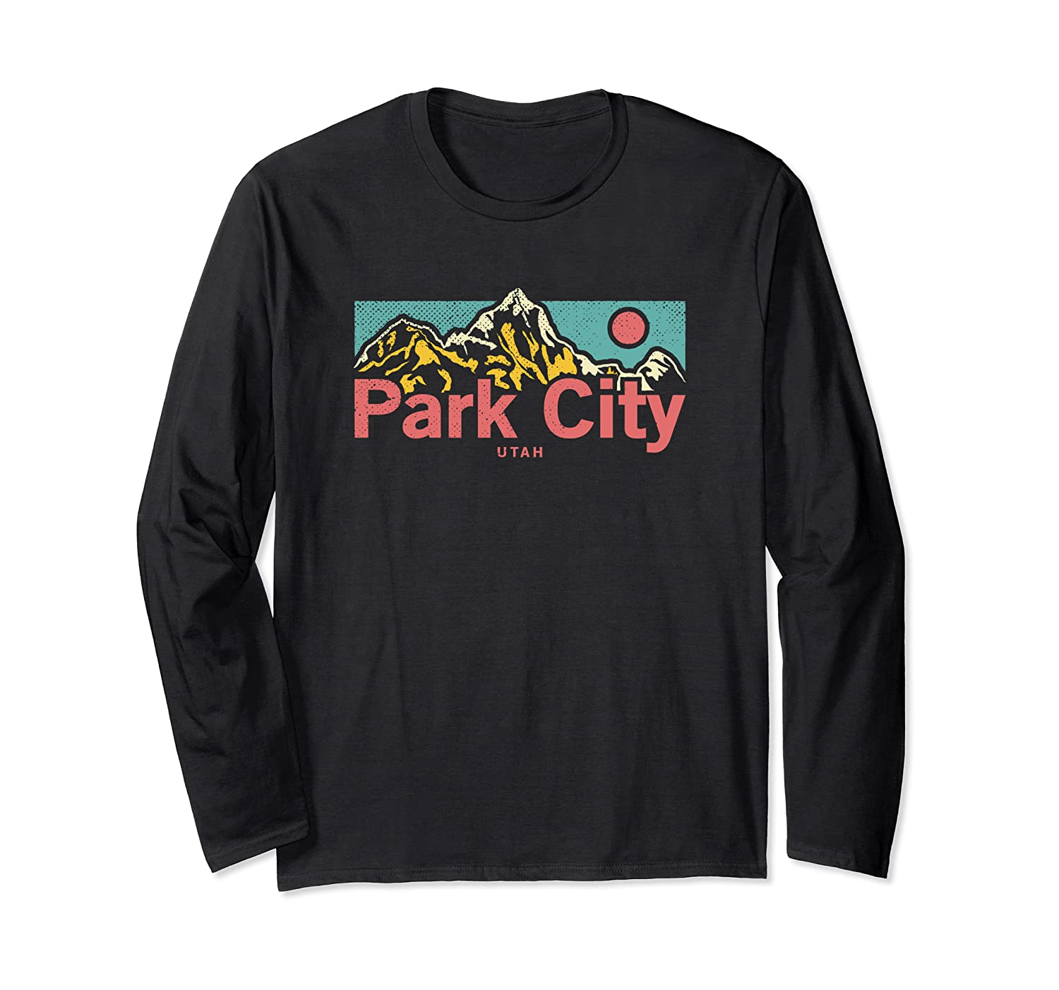 Vintage Park City Utah Outdoor Graphic Long Sleeve T-Shirt Unisex Tshirt