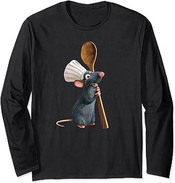 Disney Pixar Ratatouille Chef Remy with Spoon Manche Longue