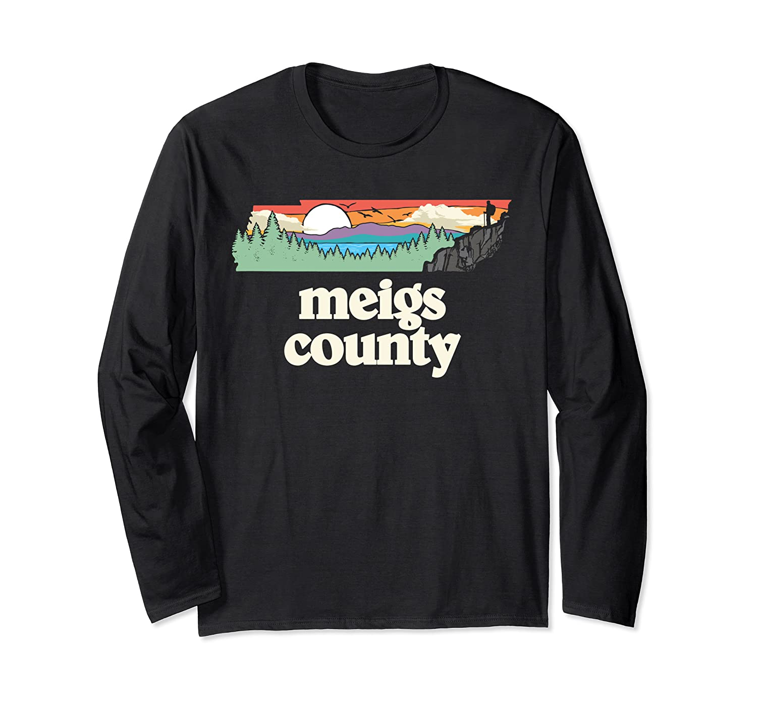 Meigs County Tennessee Outdoors Retro Nature Graphic T Shirt