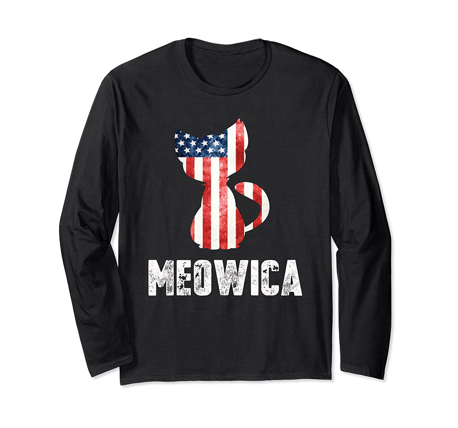 Patriotic 4th Of July Shirt Meowica American Flag Cat Lovers T-shirt
