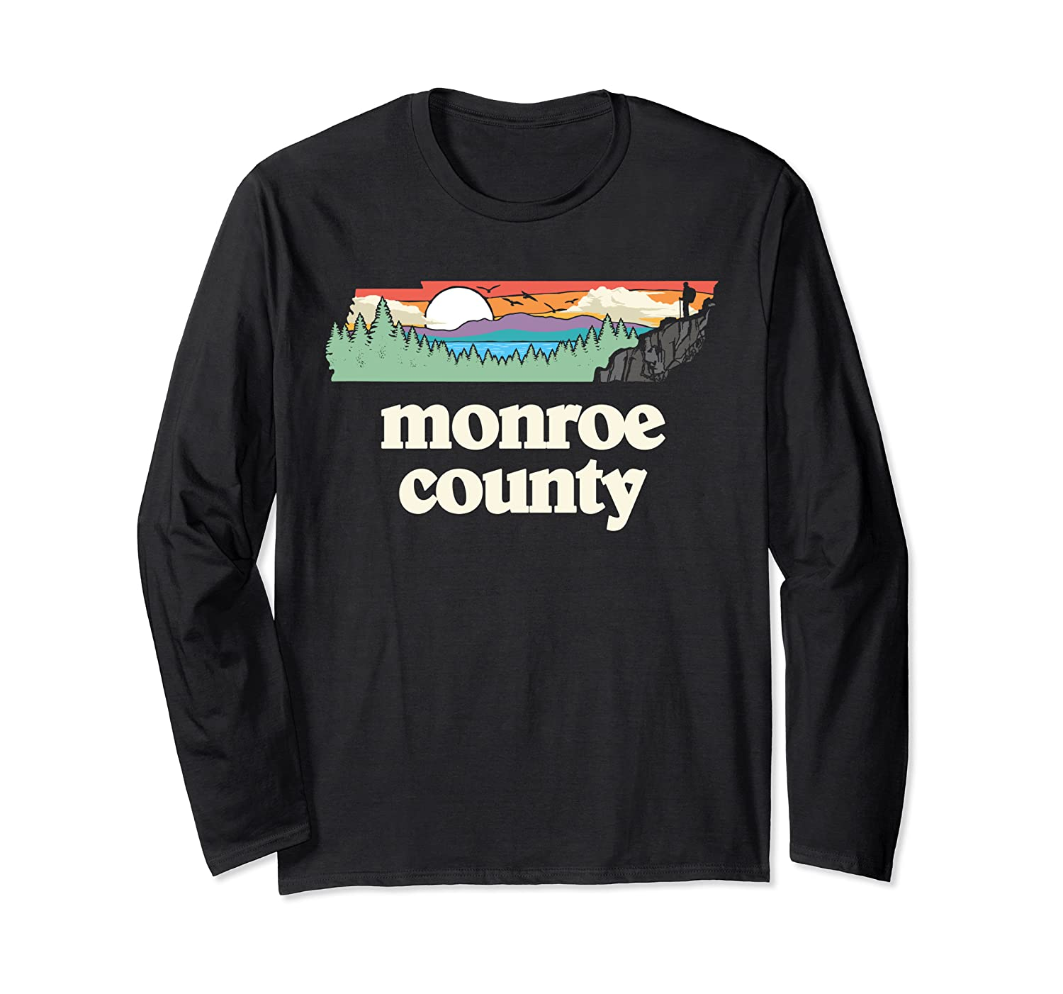 Monroe County Tennessee Outdoors Retro Nature Graphic T Shirt