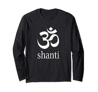 Amazon.com: Meditation Aum Om Shanti - Camiseta de manga ...