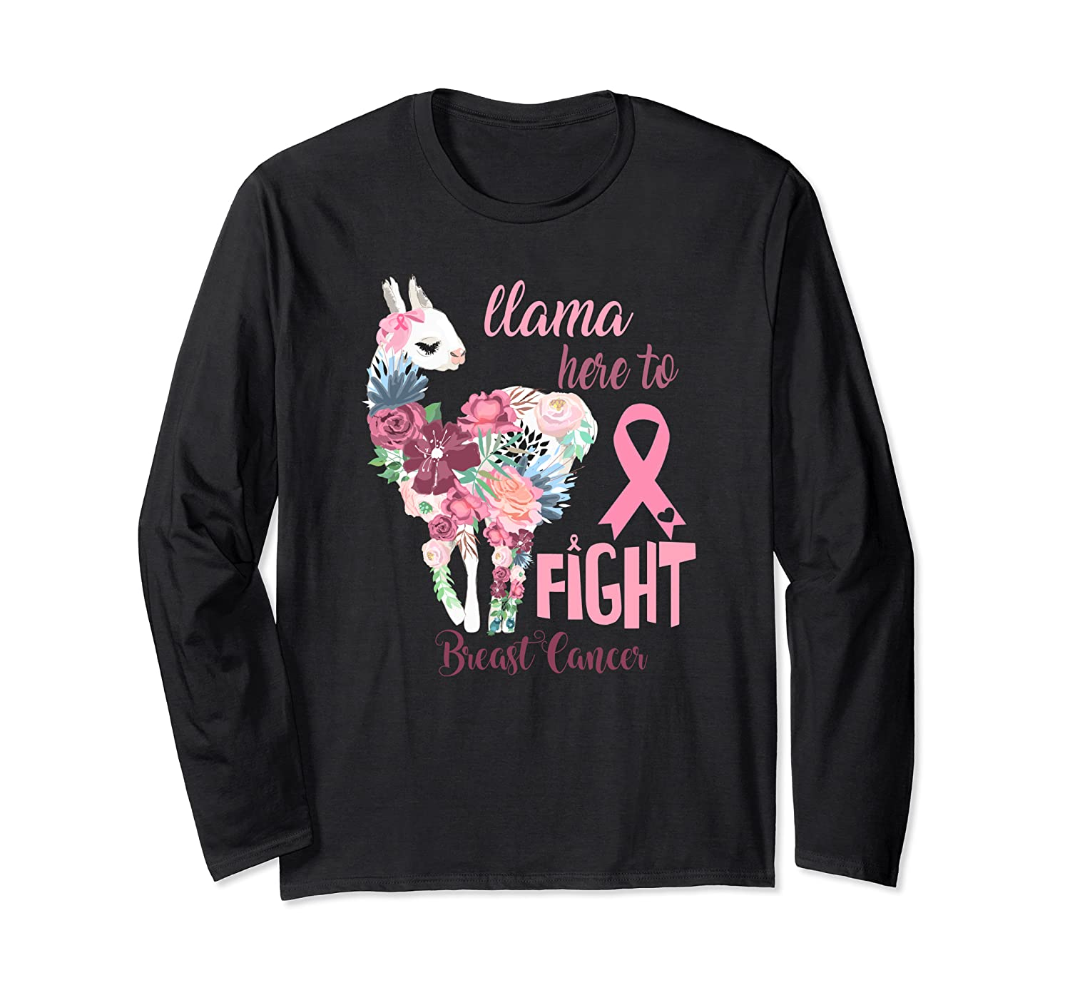 Floral Breast Cancer Awareness Month Here To Fight T Shirt