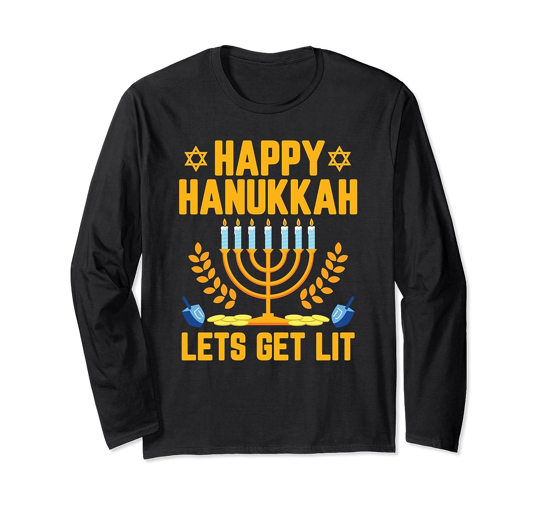 Lustig fr/öhliches Chanukkah L/ässt uns j/üdisch werden Langarmshirt