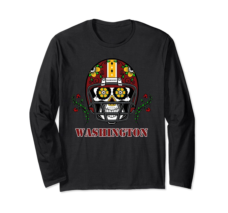 Washington Football Helmet Sugar Skull Day Of The Dead T Shirt