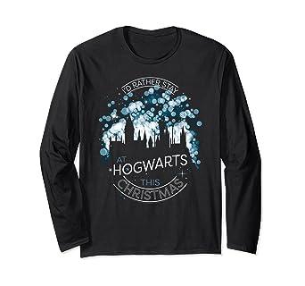 Harry Potter Christmas Shirt.Amazon Com Harry Potter Hogwarts For Christmas Long Sleeve