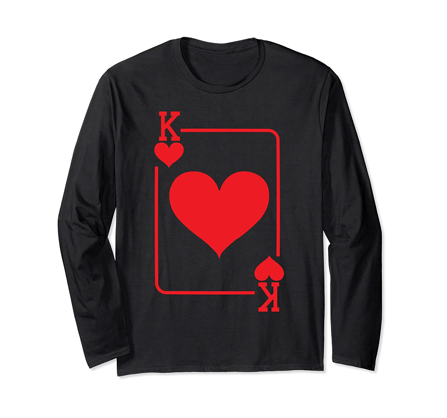 King Of Hearts Playing Card Halloween Costume Shirts