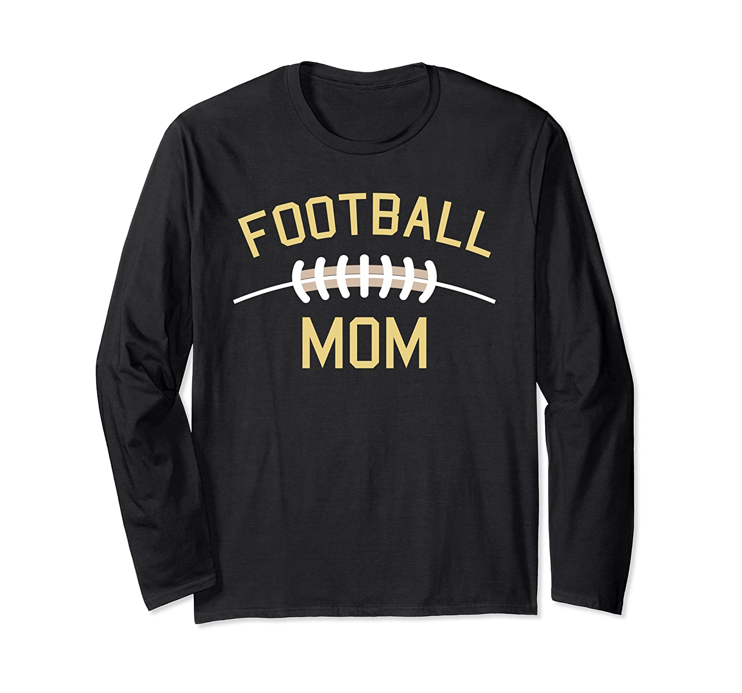 Football Mom I Decorative Leather Football Outfit for Women Long Sleeve T-Shirt-TH