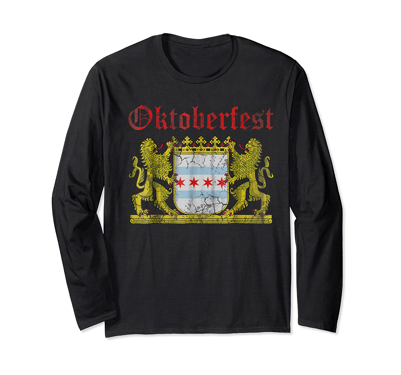 Oktoberfest Chicago Bavaria Germany T-shirt Long Sleeve T-shirt