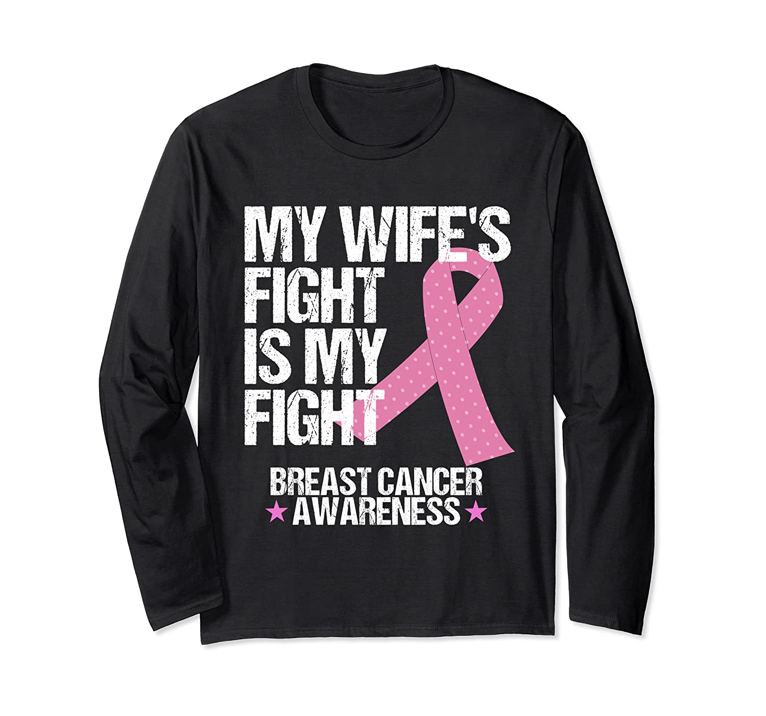Breast Cancer Awareness Month Wife Fight Pink Ribbon Gift T Shirt