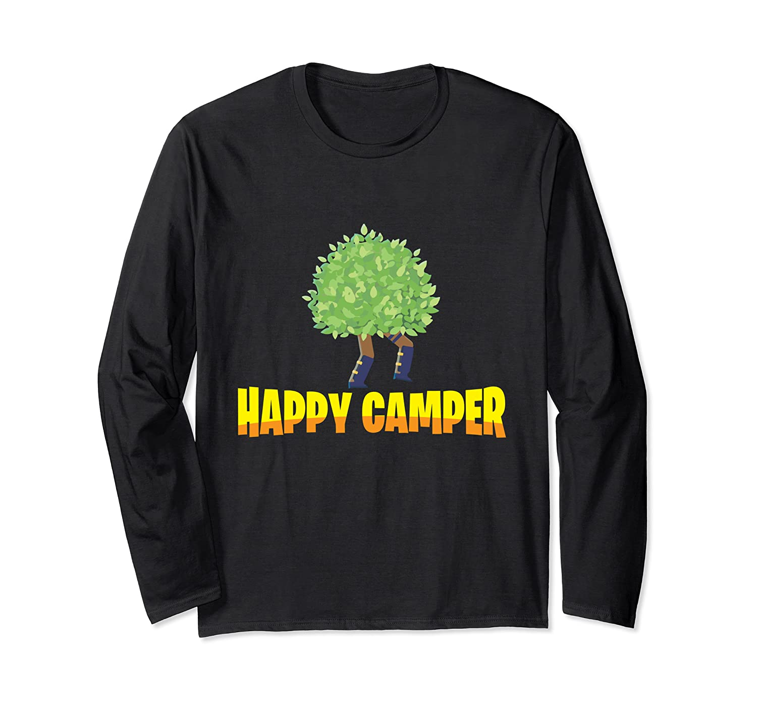 Happy Camper Gamer Bush - Funny Video Game Gaming Humor Tee Long Sleeve T-Shirt-TH