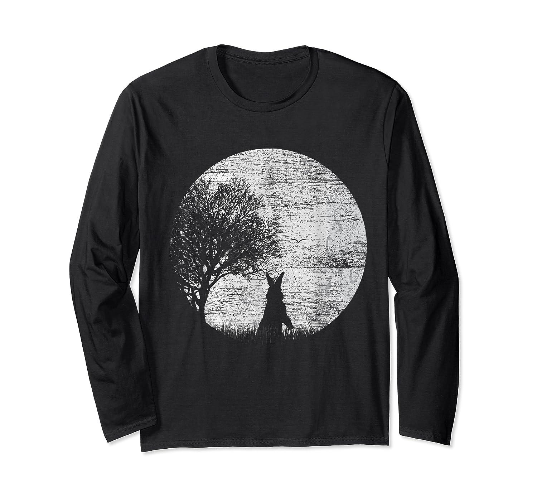 Nature Animal Gift Idea Easter Rabbit Moon Rabbit T Shirt Long Sleeve T-shirt