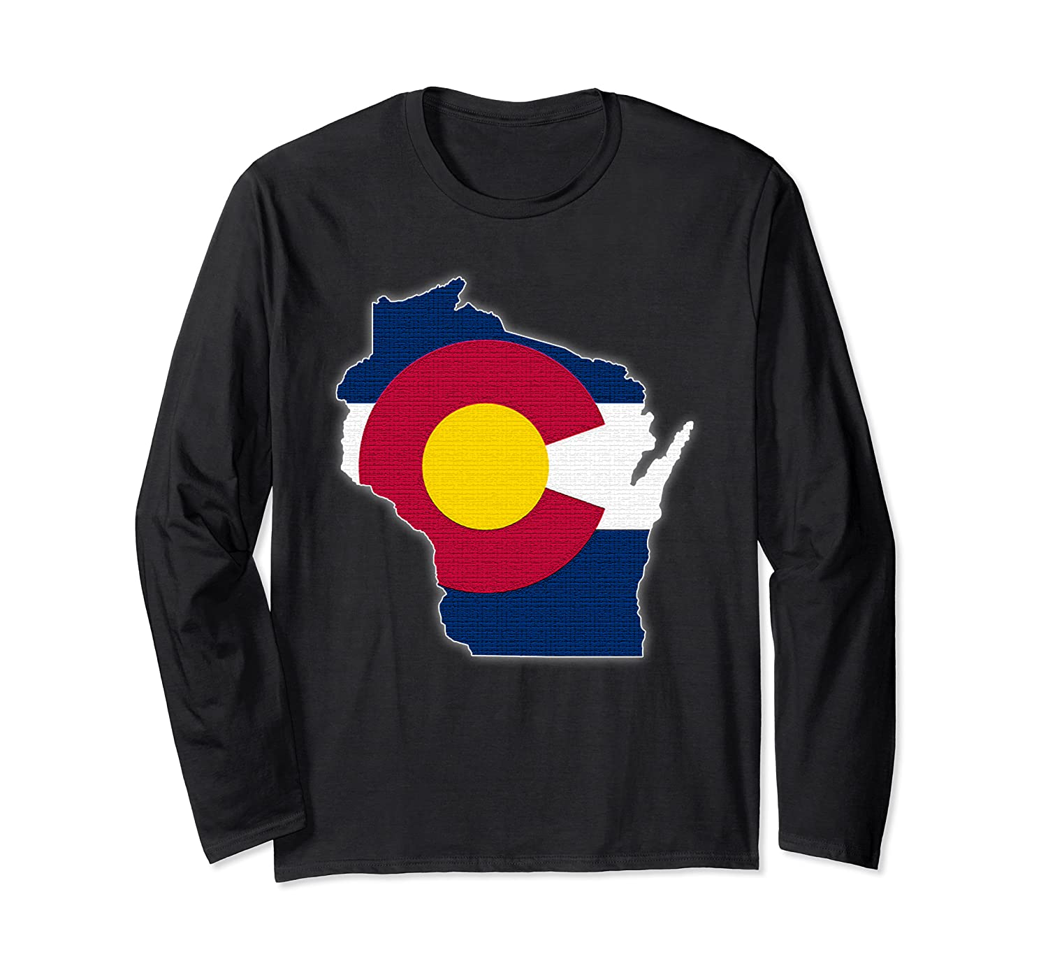 WISCONSIN STATE MAP COLORADO CO Flag Roots Men Women Gift Long Sleeve T-Shirt-TH