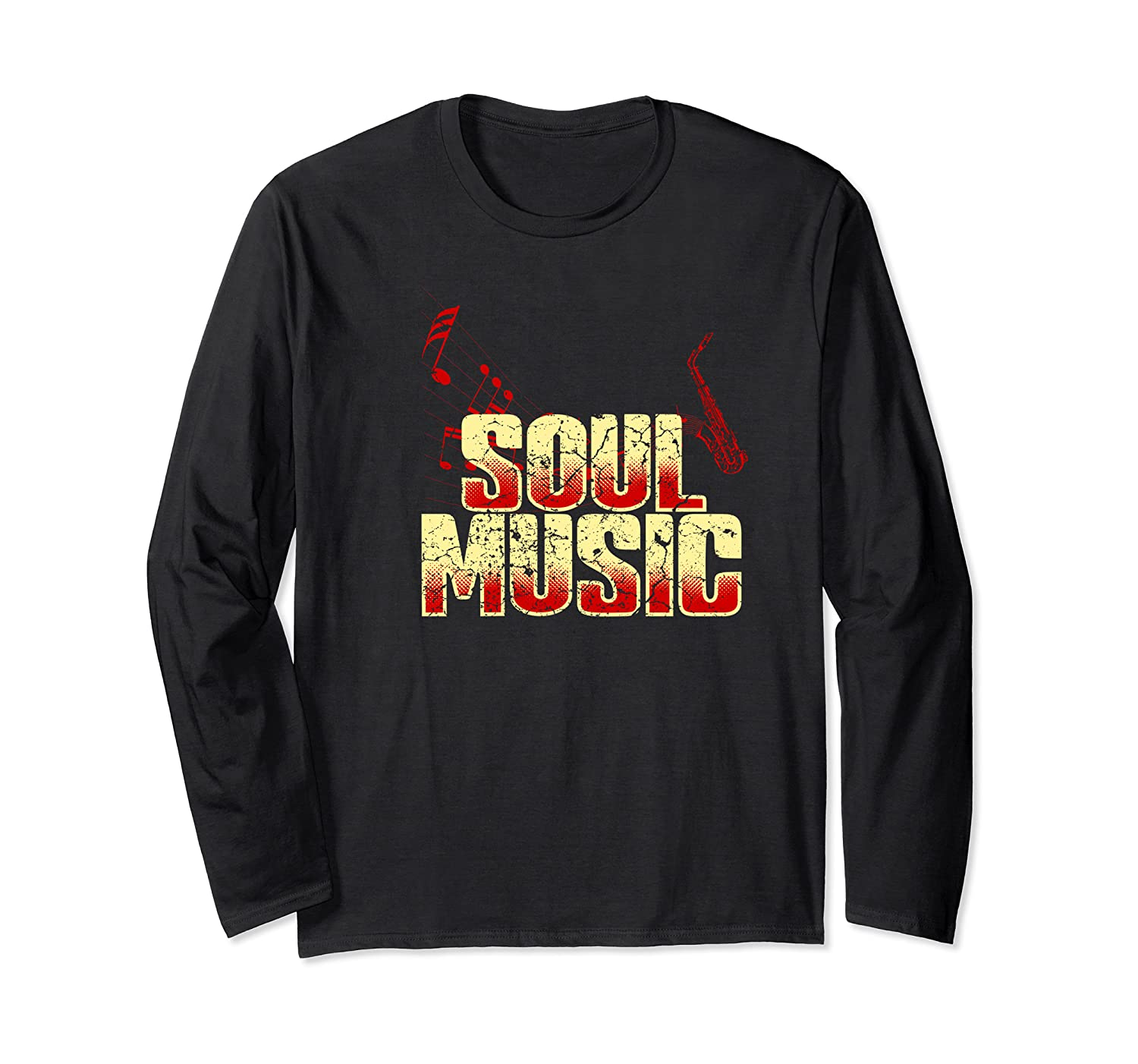 Soul Music Vintage 70s 80s Old School Gift Shirts Long Sleeve T-shirt