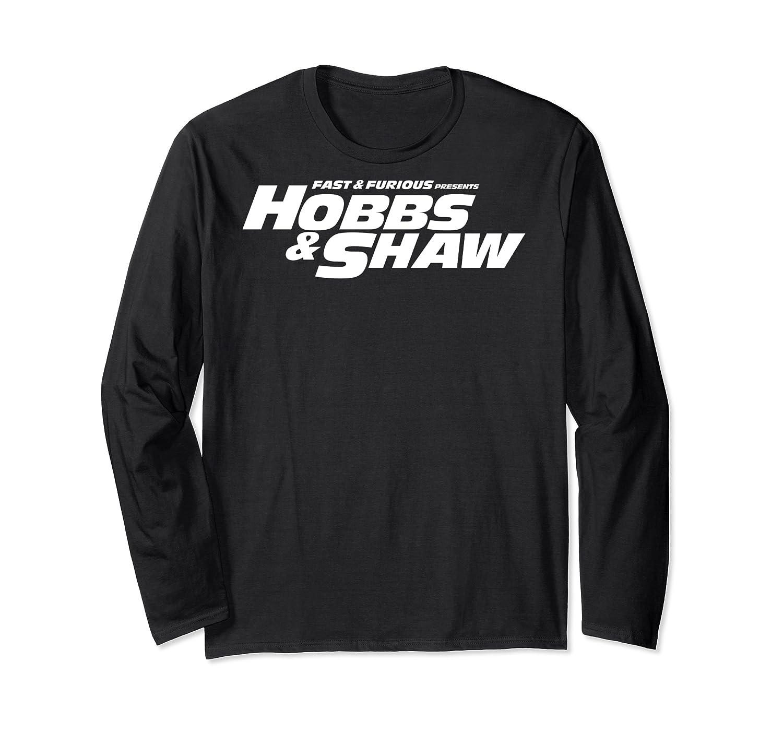 Fast Furious Hobbs Shaw All Movie Logo Pullover Shirts Long Sleeve T-shirt