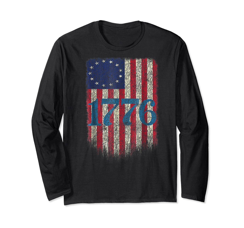 Betsy Ross Shirt 4th Of July American Flag Tshirt 1776 Long Sleeve T-shirt
