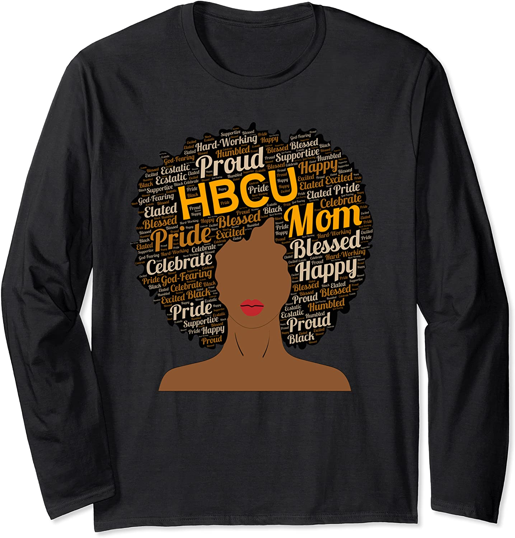Proud HBCU Mom Afro Parent Long Sleeve T-Shirt