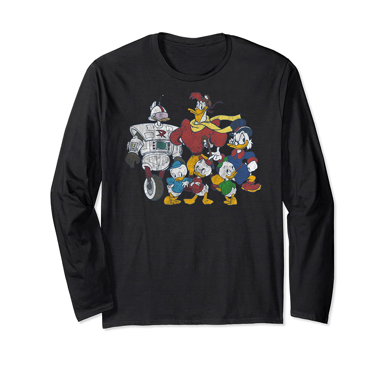 Duck Tales Tank Group Graphic Shirts Long Sleeve T-shirt