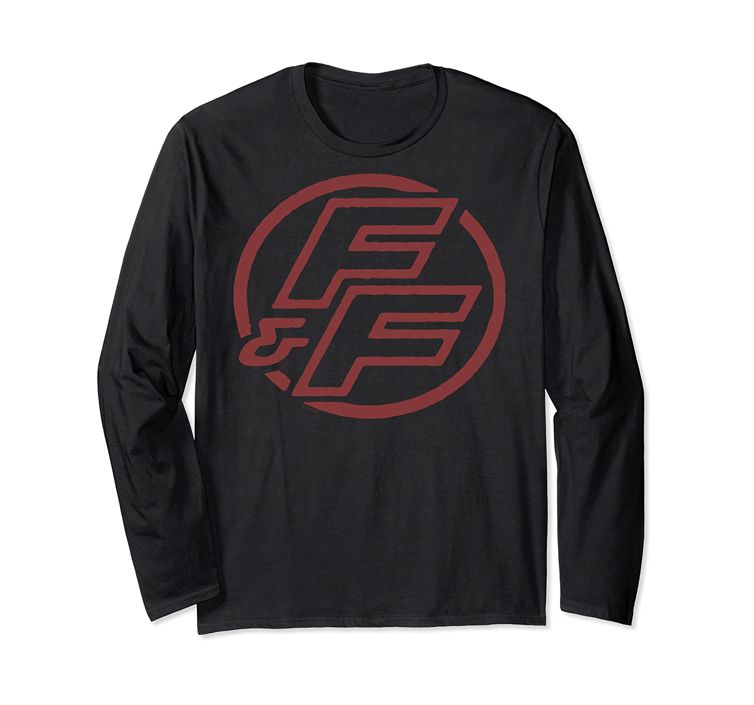 Fast Furious Red Logo Outline Circle Logo Pullover Shirts Long Sleeve T-shirt