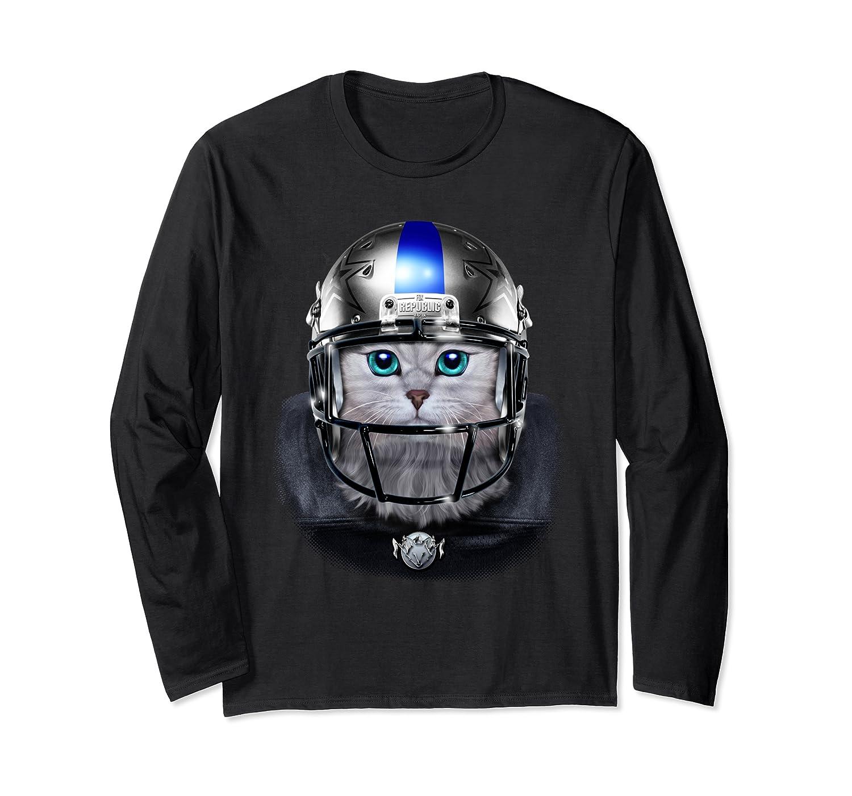 Cute Tabby Cat As American Football Player T-shirt