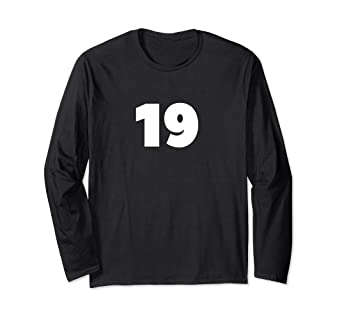 Amazon com: Nineteen 19 Lucky Number Sweet 19 Birthday Gift T-Shirt