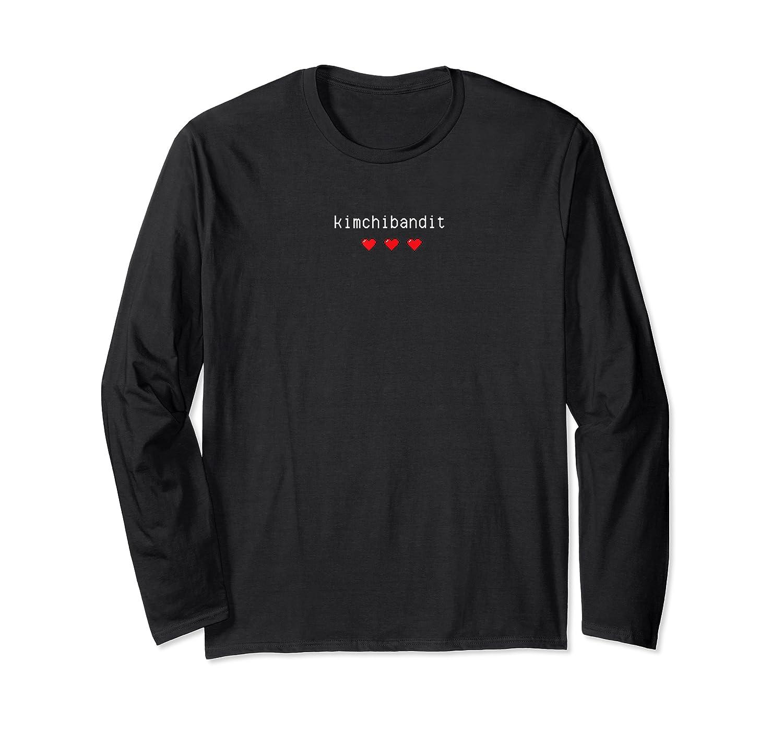 Korean T Shirt Kimchi Bandit Heart Love Gift K Pop Food Long Sleeve T-shirt