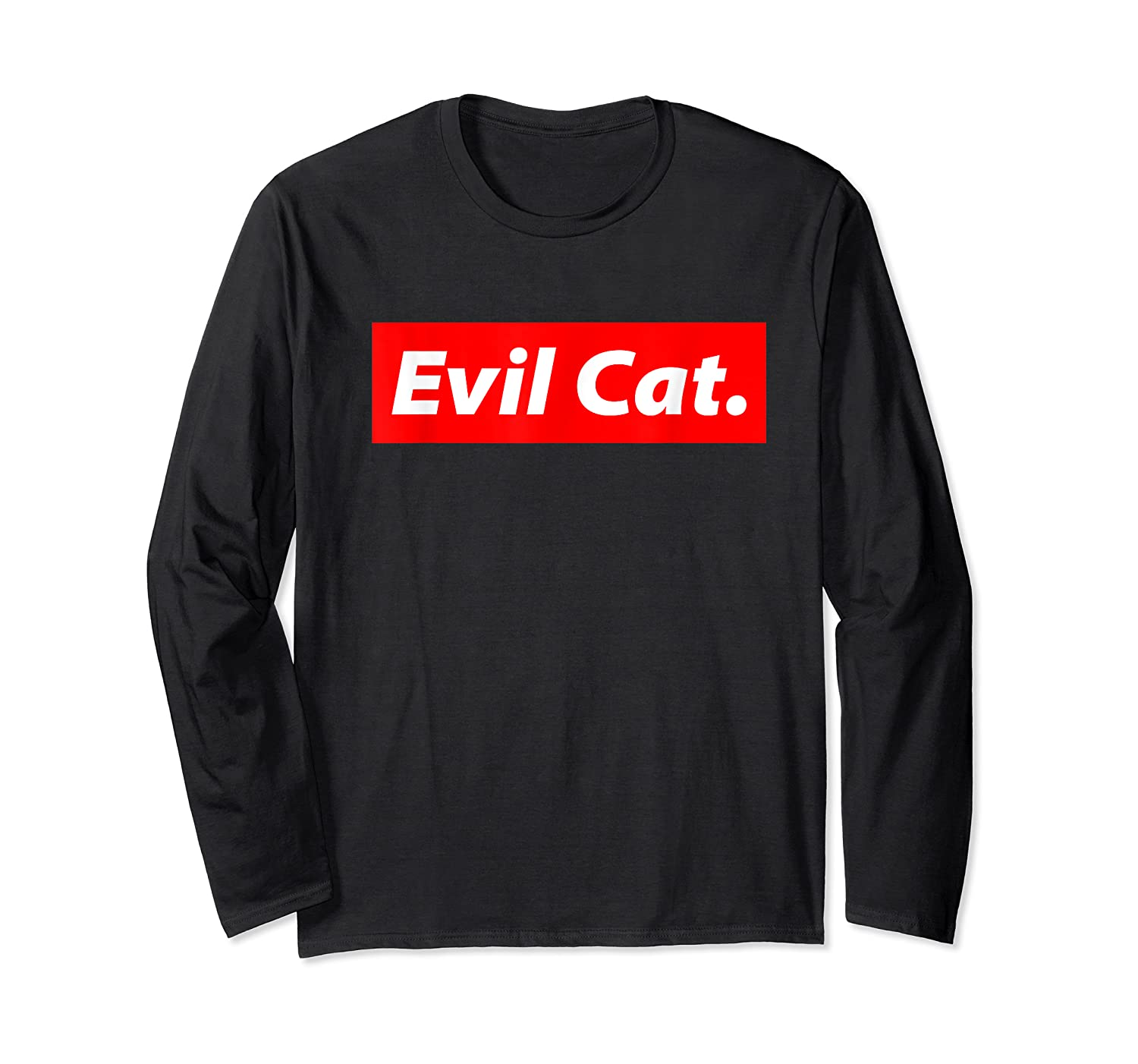 Evil Cat Streetwear For And Evil Cat Shirts Long Sleeve T-shirt