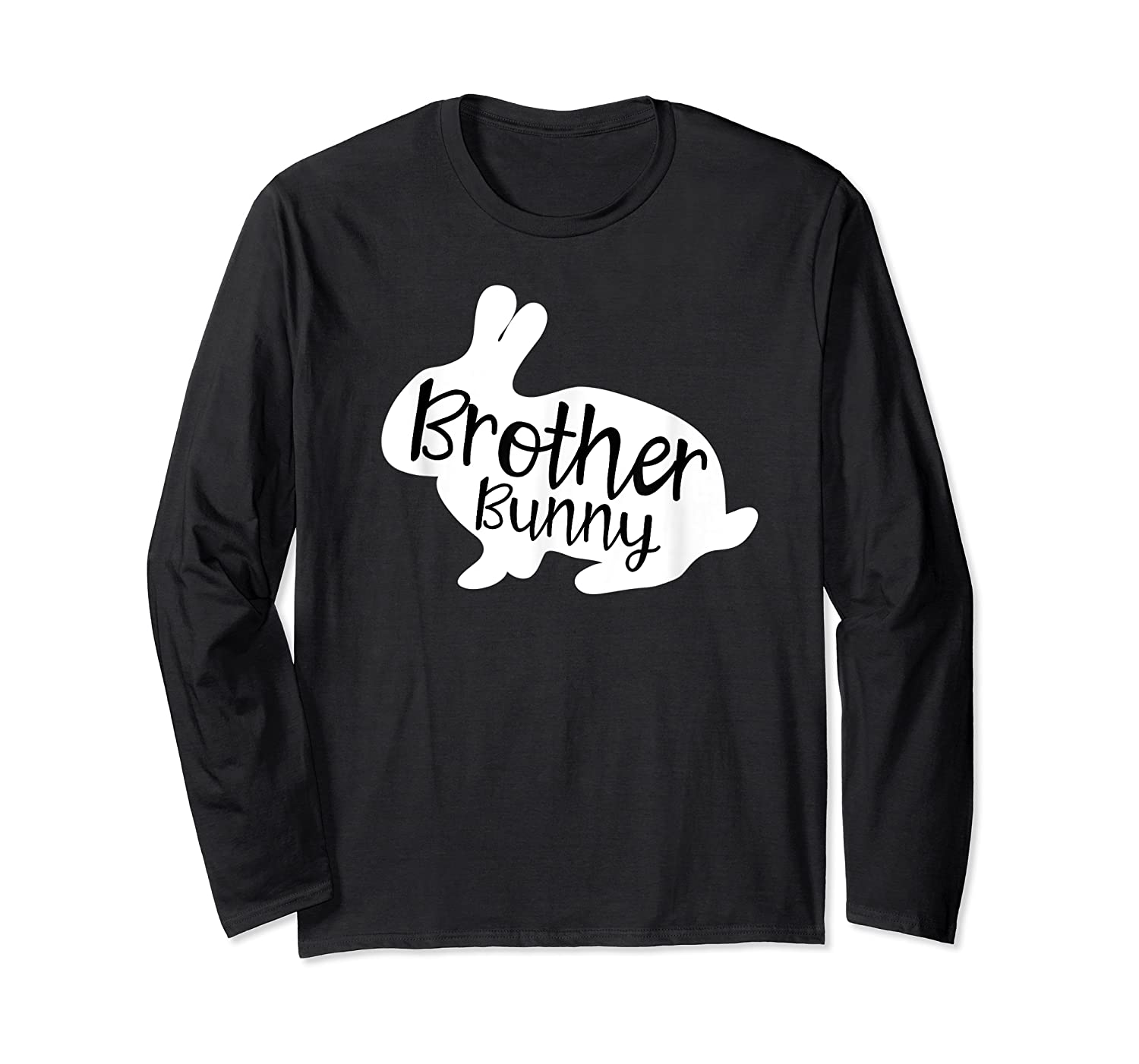 Brother Bunny Cute Rabbit Family Easter Gift Shirts Long Sleeve T-shirt