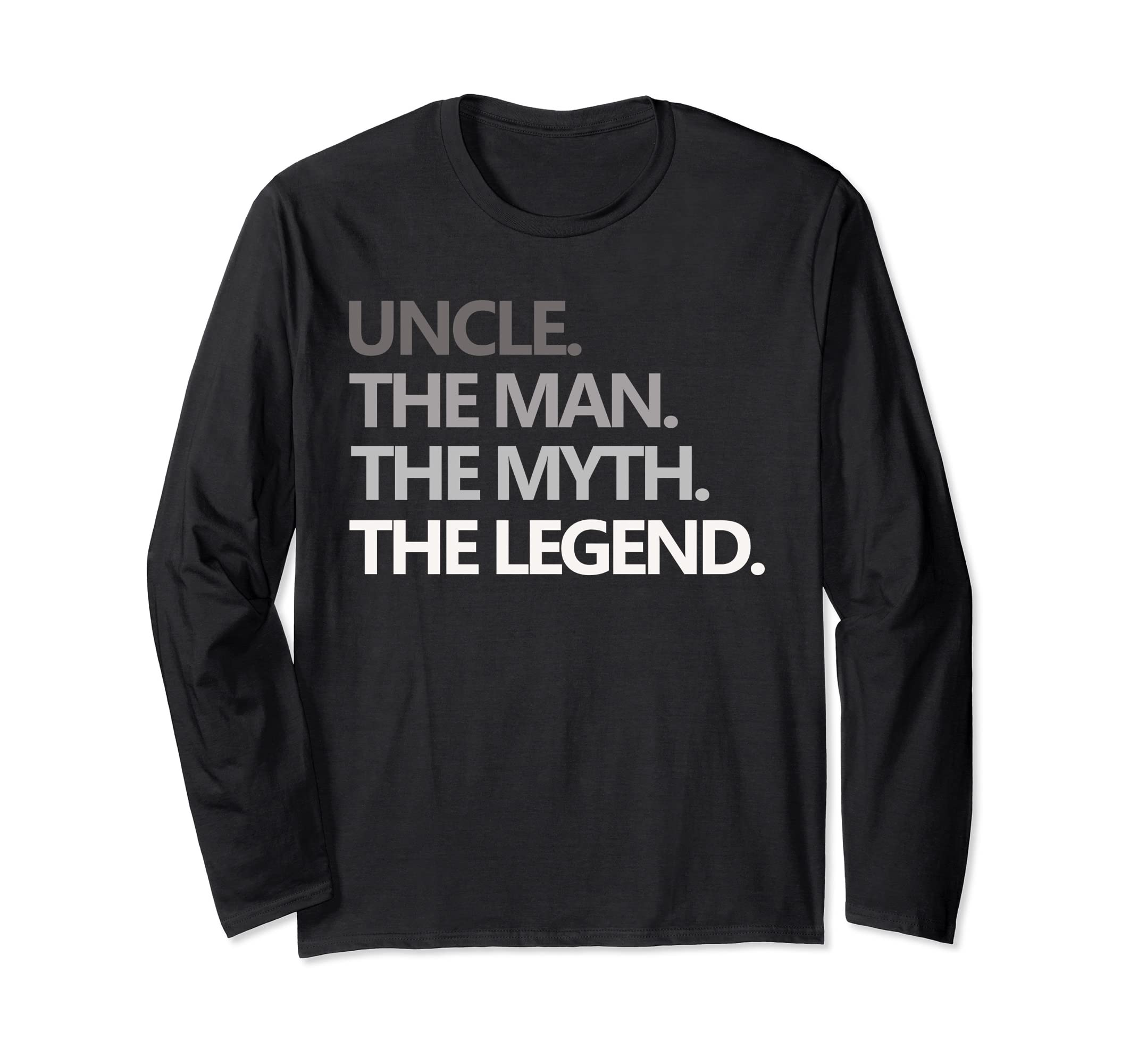 Christmas Gift For Men Uncle The Man Myth Legend T Shirt Fun-SFL