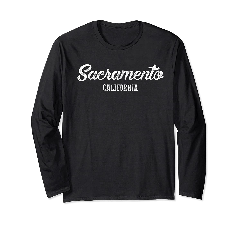 Sacrato California Souvenir Landmark Gif Shirts Long Sleeve T-shirt