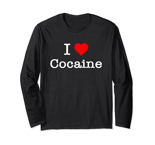 c39c10c9247 Amazon.com  I Love Cocaine Shirt  Clothing