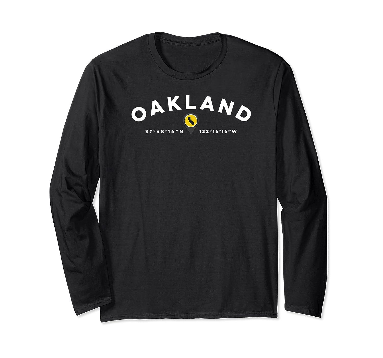 Oakland California Ca Graphic Map Shirts Long Sleeve T-shirt