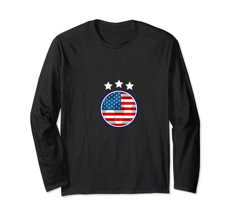 Usa Flag United States 2019 Soccer Us Futbol Shirts Long Sleeve T-shirt