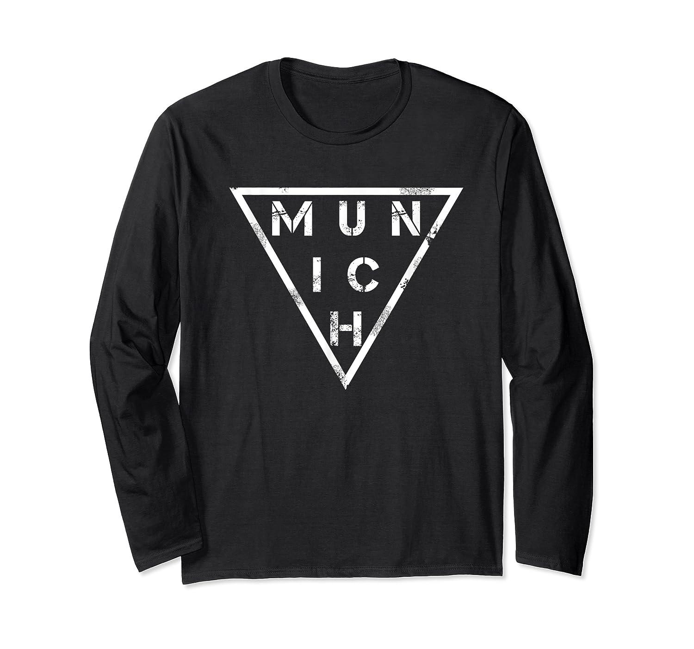 Munich T Shirt Germany Bavarians Distressed Vintage Tee Long Sleeve T-shirt