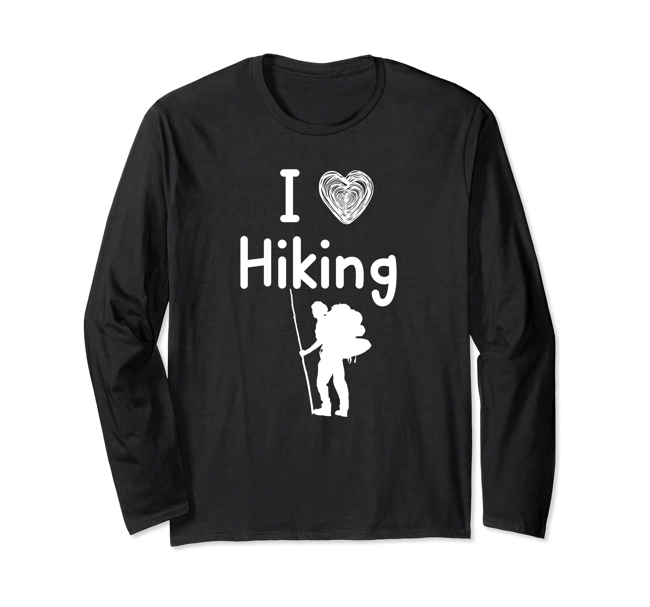 Camping, Tent, Hiking, Nature Long Sleeve T shirt / I heart-ln