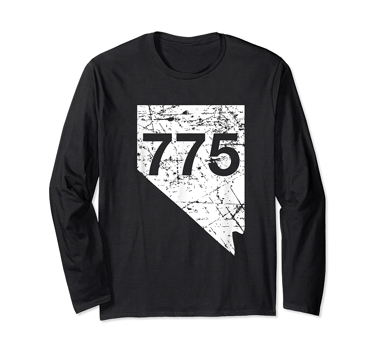 Carson City Reno Sparks Area Code 775 Shirt Nevada Gift Long Sleeve T-shirt