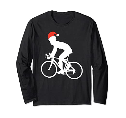 Image Unavailable. Image not available for. Color  Cycling Ugly Christmas  Sweater Style Long Sleeve Funny Santa 32d96b35c