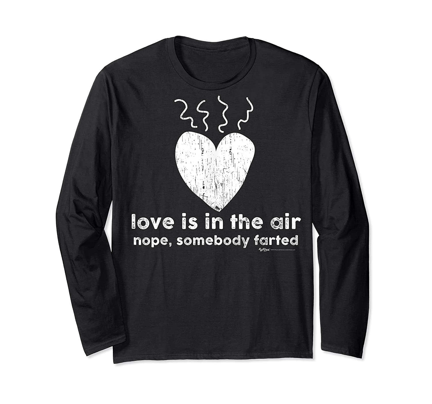 Vintage Love Is In The Air Nope Anti Valentines Day T Shirt Long Sleeve T-shirt