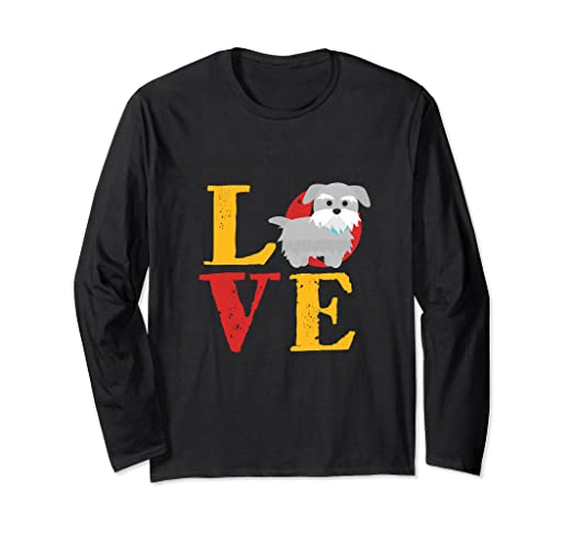 05a77d94 Image Unavailable. Image not available for. Color: I Love Miniature  Schnauzer Puppy T-shirt ...