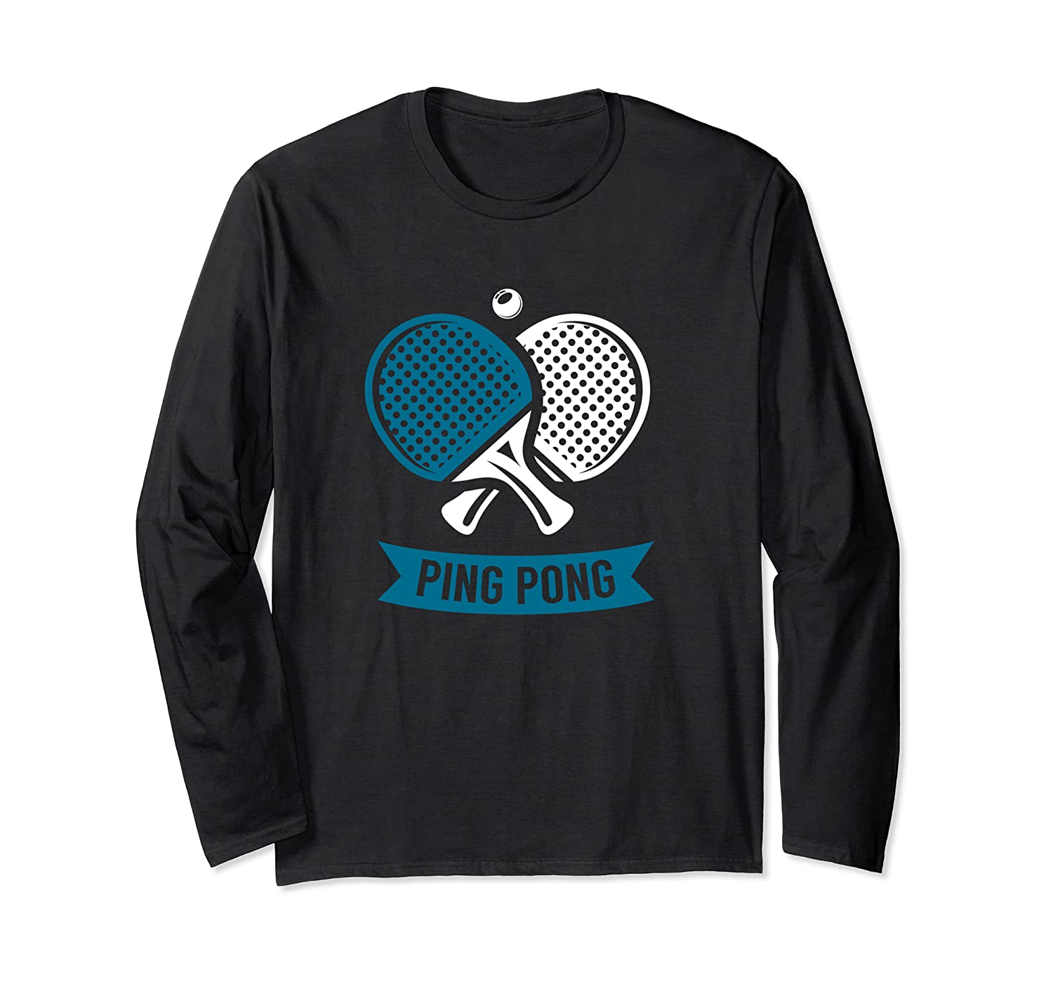 Amazon.com: Crossed Table Tennis Paddles Ping Pong Sport Tee ...