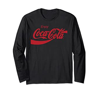 7ddb8998fd0a6 Image Unavailable. Image not available for. Color  Coca Cola Logo Long  Sleeve T-shirt