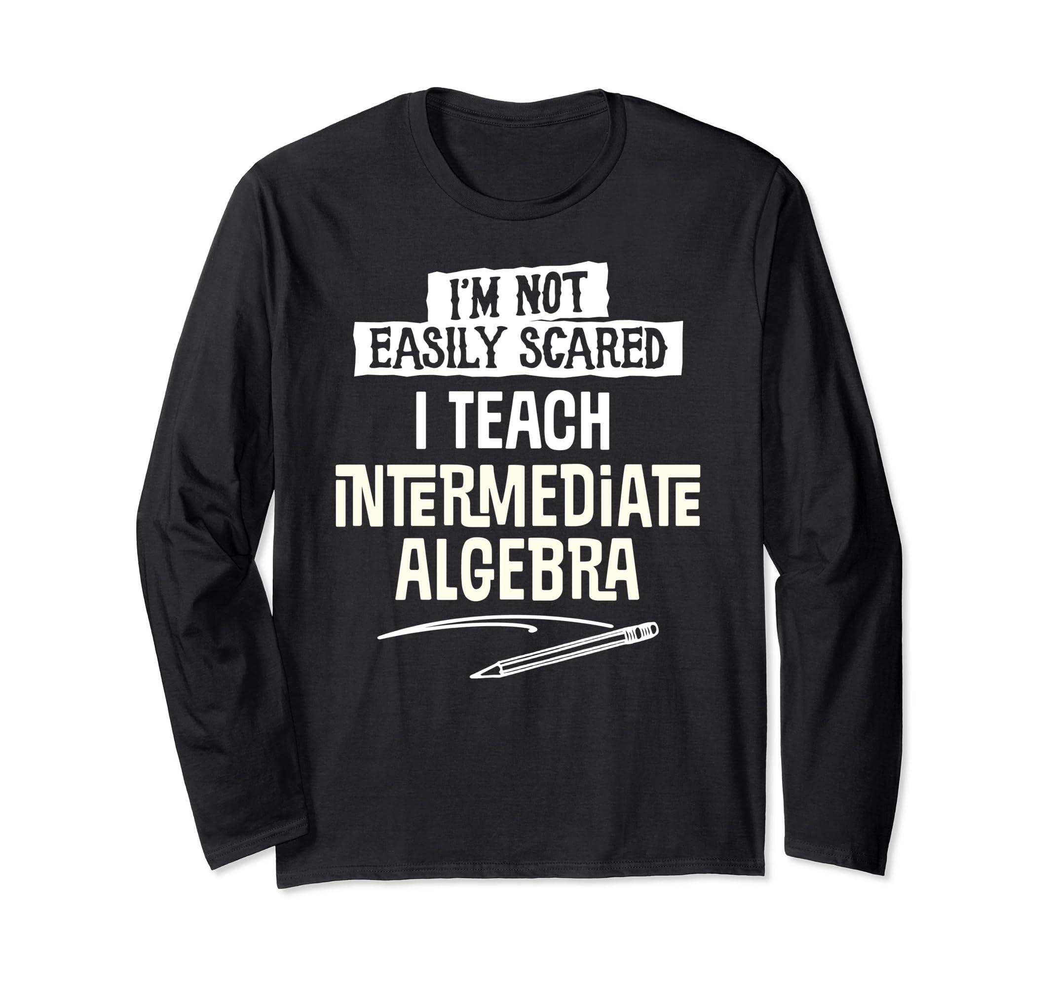 Funny Intermediate Algebra Teacher Halloween Long Sleeve Cos-Bawle