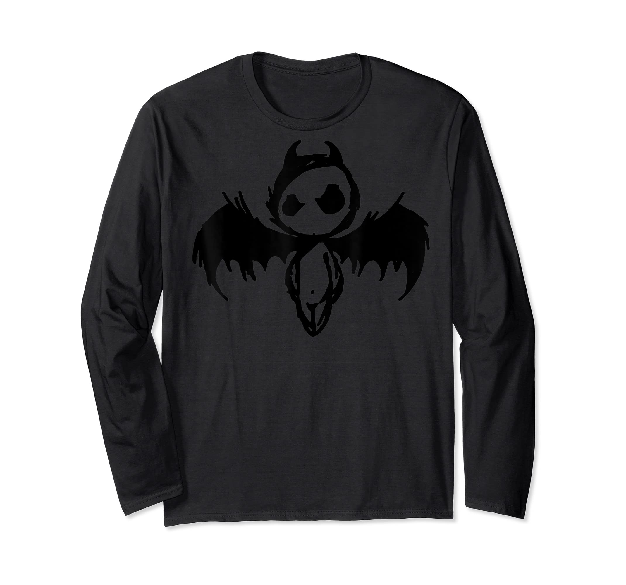 Cute Demon Vintage Couple Matching Halloween Party Costume  T-Shirt-Long Sleeve-Black