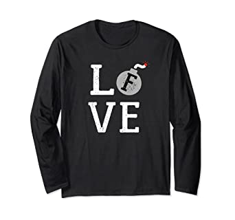 0d6cff48c Image Unavailable. Image not available for. Color: Love F Bombs Shirts  Funny Fbomb Dropping Mom Dad Profanity