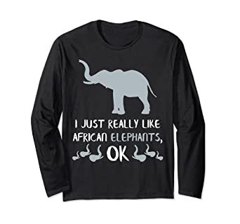 f379046b8 Image Unavailable. Image not available for. Color  African Elephant Long  Sleeve Shirt Love Elephants