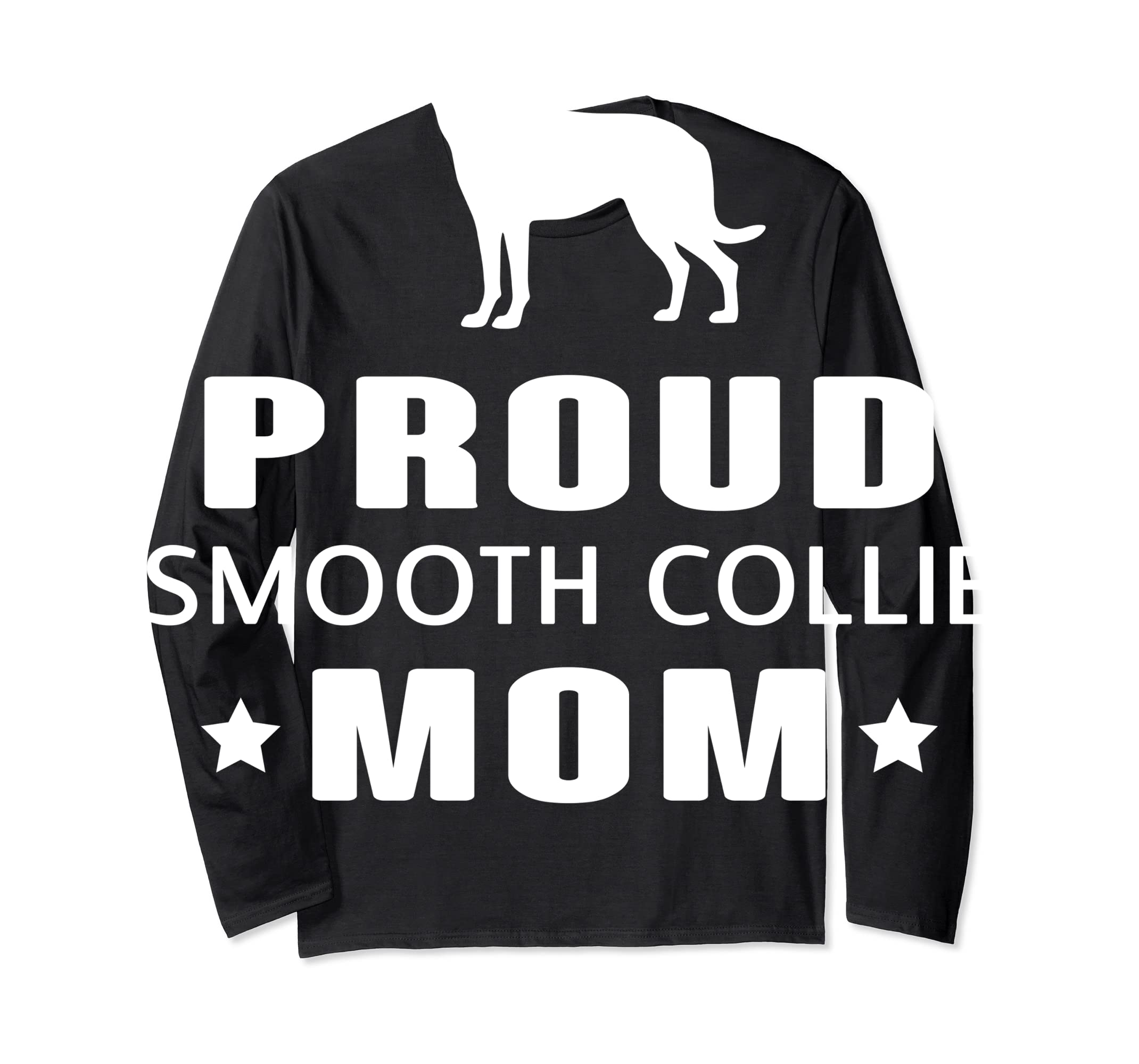 Smooth Collie Funny T-Shirts For Dog Lovers-Long Sleeve-Black