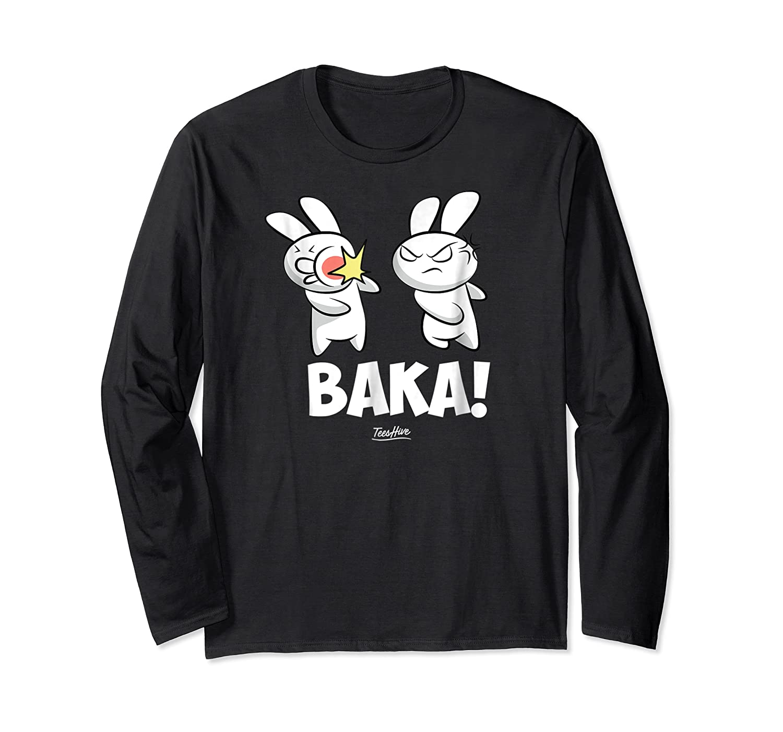 Funny Anime Baka Rabbit Baka Japanese Anime Lover Shirt Long Sleeve T-shirt