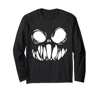 ddff008e176c3 Amazon.com: Scary Pumpkin Costume Long Sleeve Shirt Gift Halloween ...