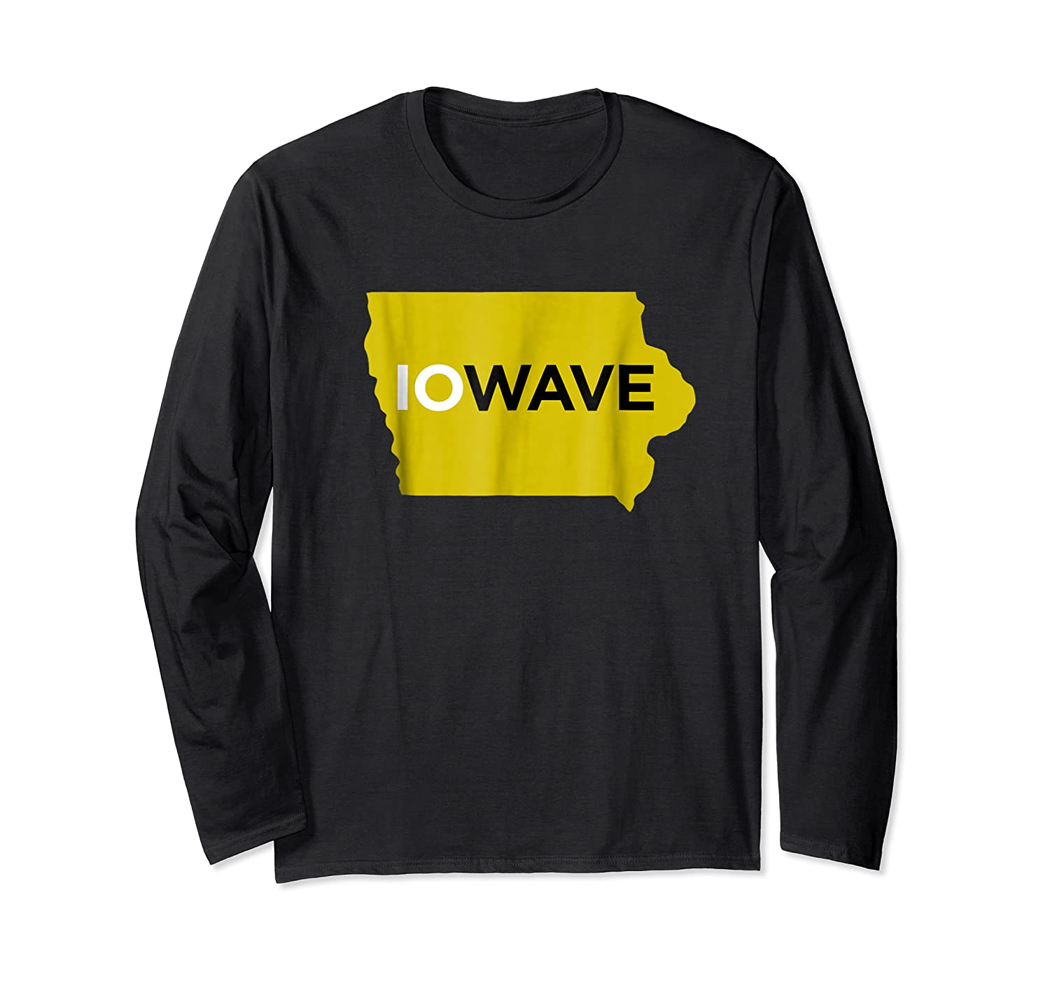 State Of Iowa Iowave Wave T For Fans And Residents Shirts Long Sleeve T-shirt