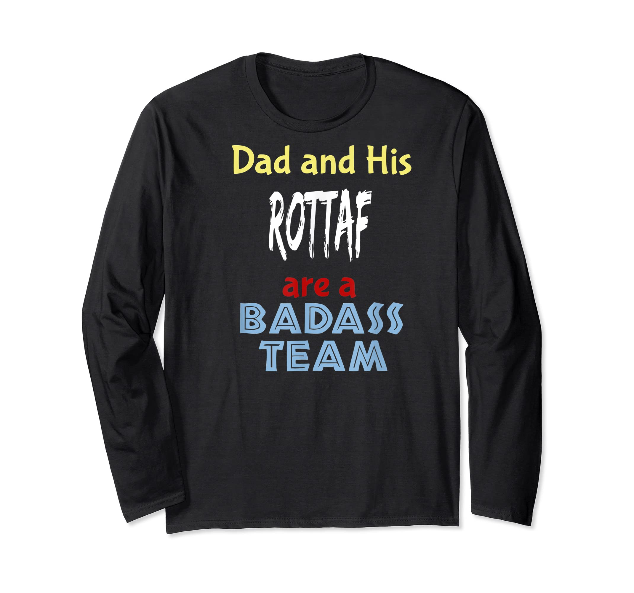 Mens Rottaf Dog Shirt Love Rottweiler + Afghan Hound =  T-Shirt-Long Sleeve-Black